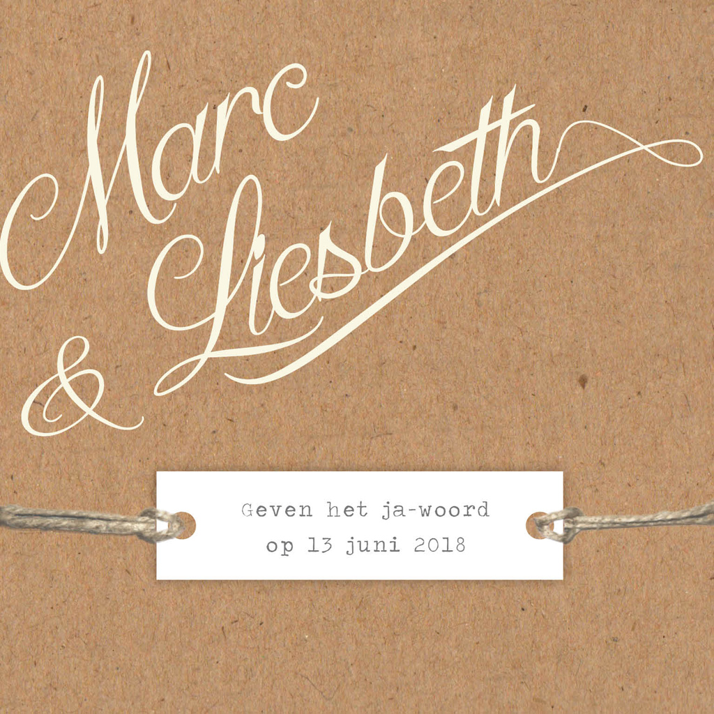 Lavendel - label - touw - linnen - rustiek - romantisch - landelijk - kraft karton