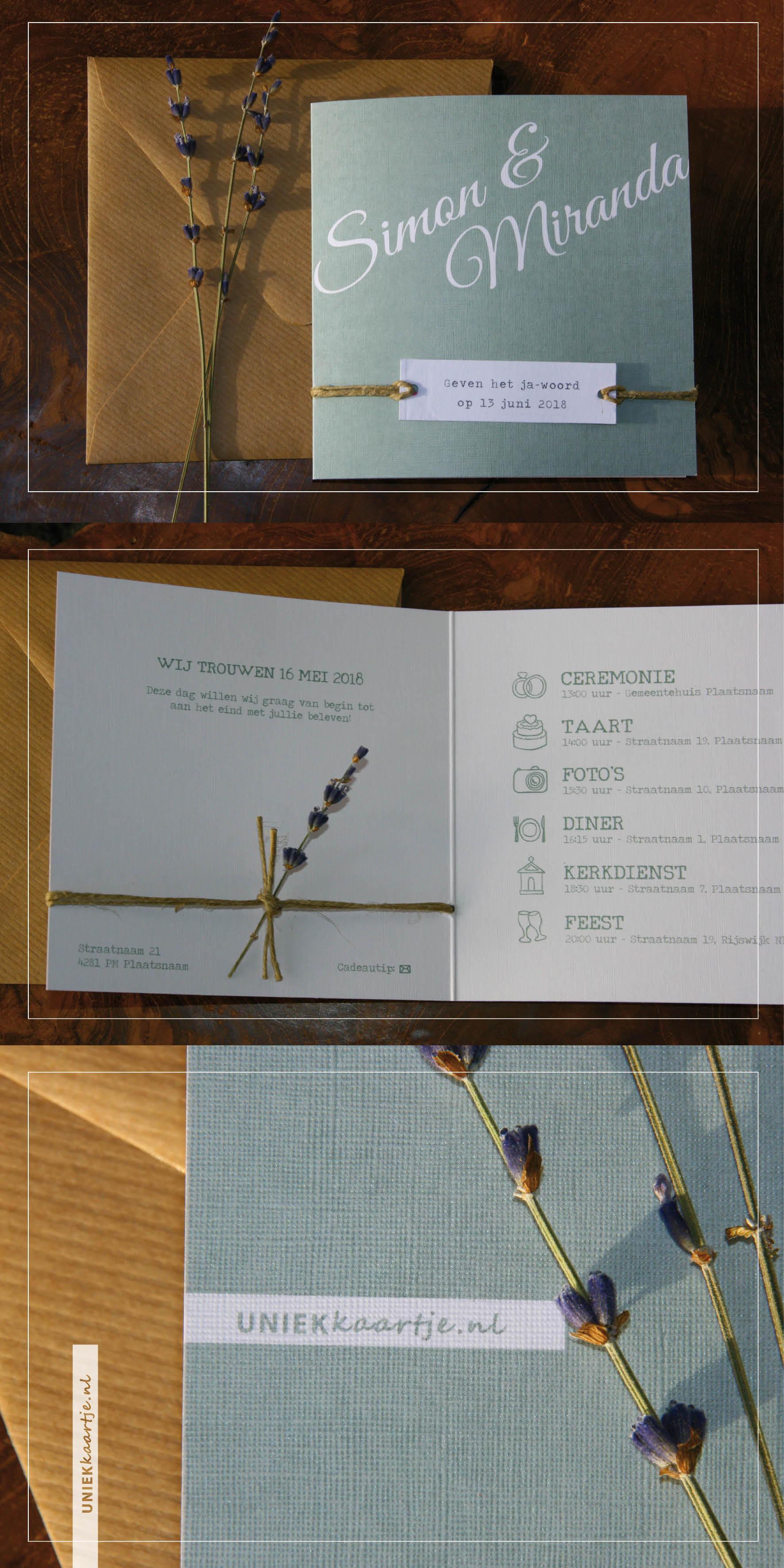 Lavendel - label - touw - linnen - rustiek - romantisch - landelijk