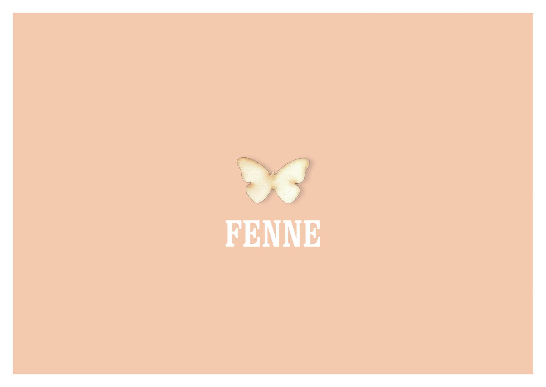 Geboortekaart meisje roze vlinder strak modern stoer uniek